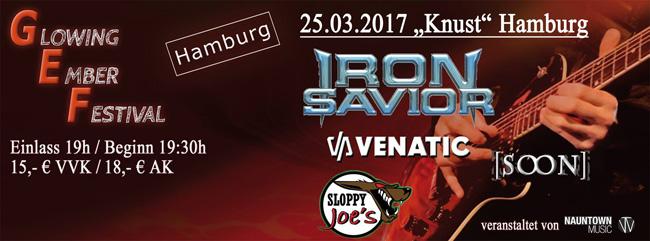 Iron Savior headlining Glowing Ember Festival