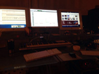 Heavy mixing at 'Powerhouse Studio'