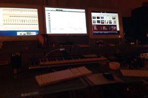 Heavy mixing at 'Powerhouse Studio'
